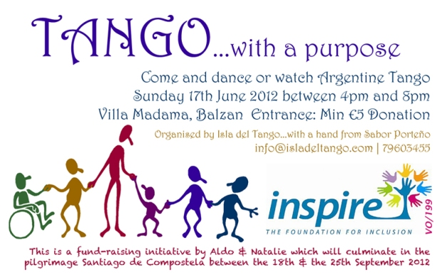 Sunday 17 June 4-8pm:  Villa Madama, Balzan: Tango UNO