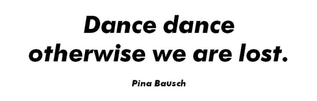dance dance otherwise we are lost
